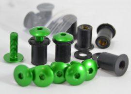 Plexicsavar + gumianya Zöld 1db